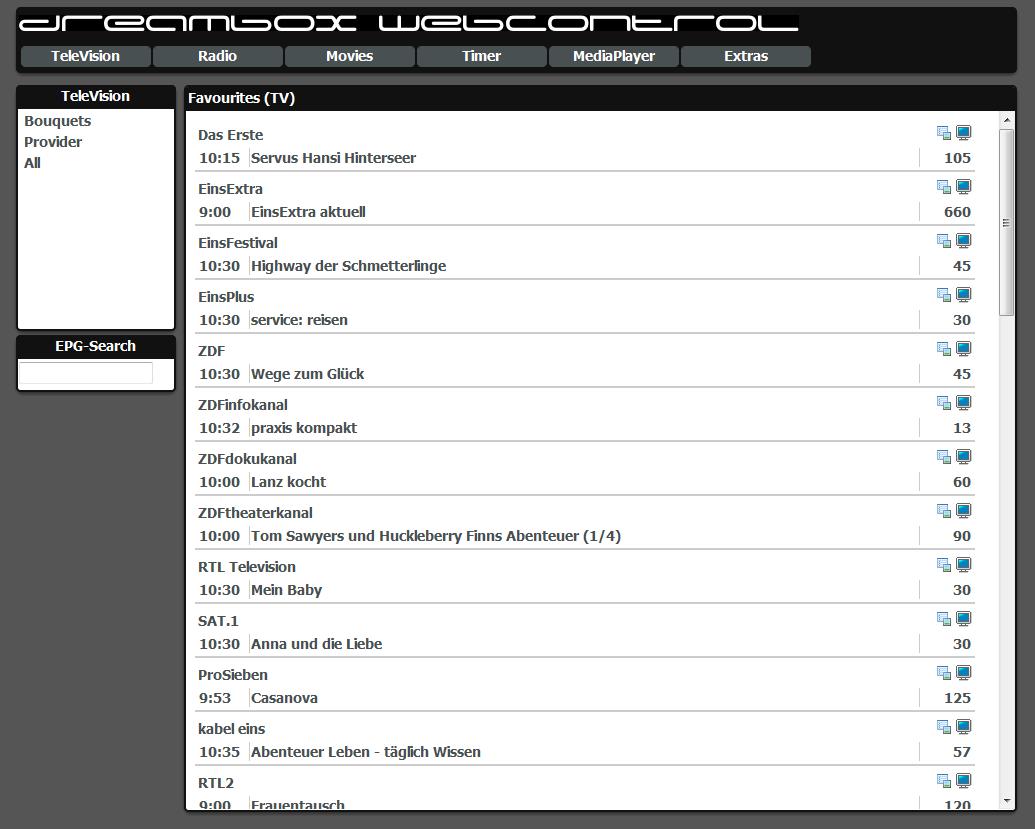 Webinterface Redesign
