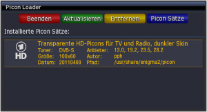 Picon Loader: Installierte Picons