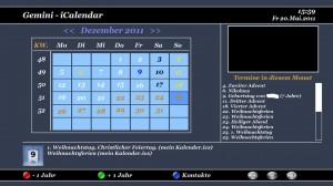 Gemini3 Kalender- und Kontakte-Addon
