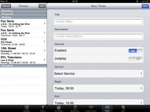 dreaMote auf dem iPad