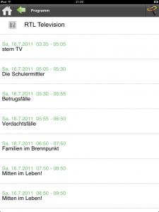 DAC fürs iPad (Programm-Liste)