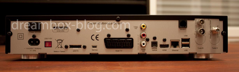Rückseite der DM7020 HD