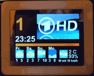 USB-Display mit Wettervorhersage