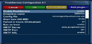 Konfiguration des PushService-PlugIns (Screenshot von betonme)