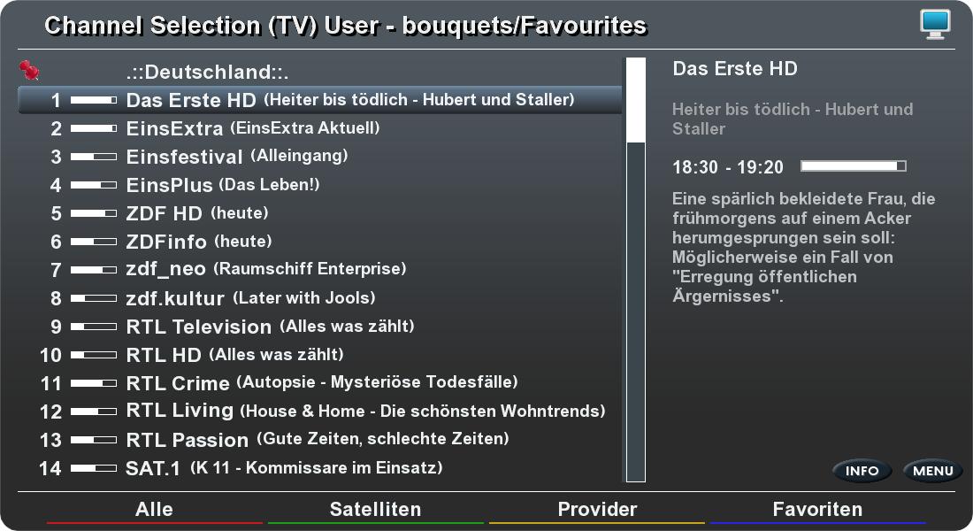 Kanalauswahl bei Elgato-HD
