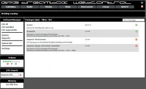 Webadmin Filter und Suche