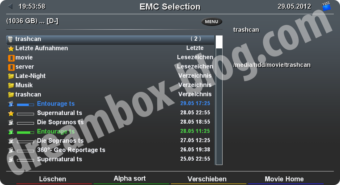 Enhanced Movie Center (EMC)