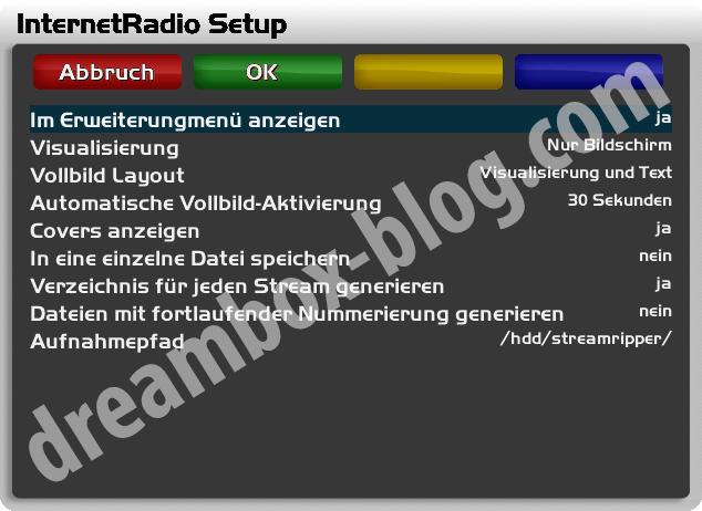 Setup von InternetRadio