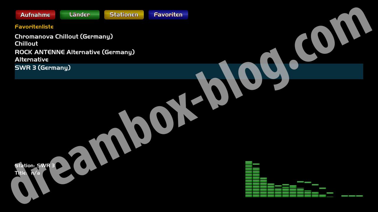 Internetradio Startbildschirm