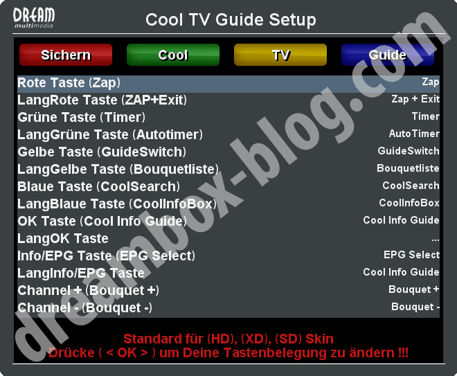 Cool TV Guide Setup