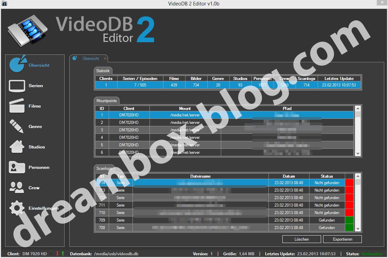 videodb2-editor uebersicht