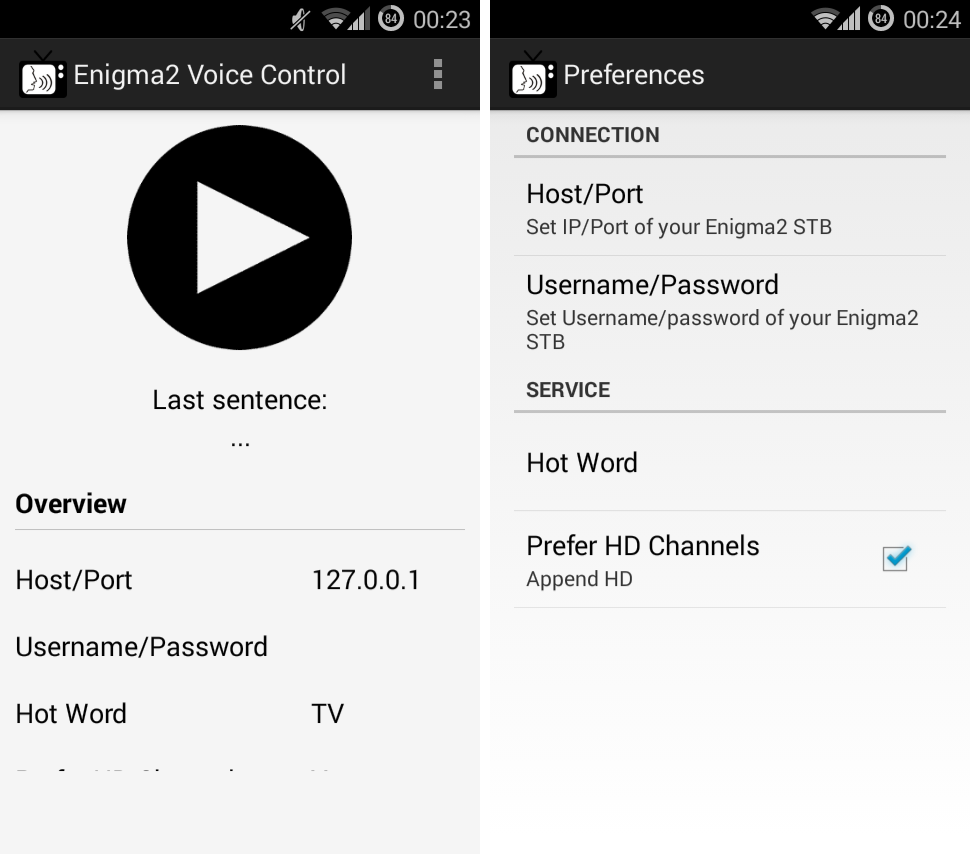 e2 voice control