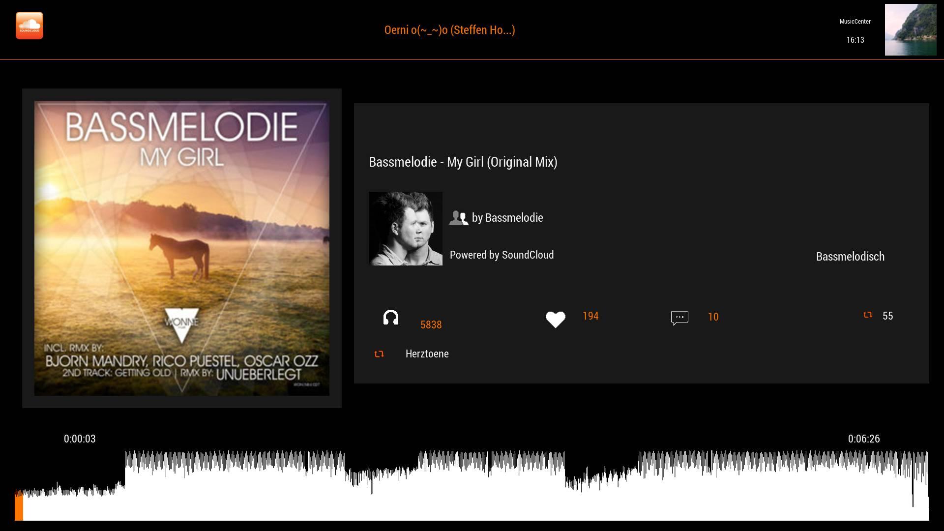 Anbindung an SoundCloud ist auch möglich! (Quelle: bobo71; http://board.dreambox-tools.info)